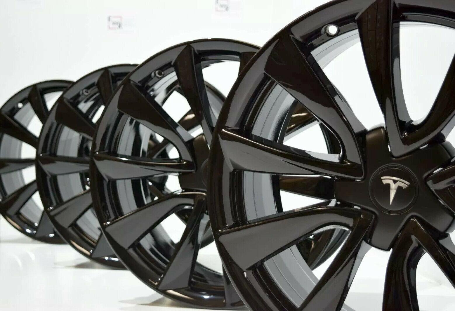 19″ TESLA MODEL 3 FACTORY OEM ORIGINAL GLOSS BLACK RIMS ...