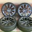 21″ TESLA MODEL S CARBON SONIC GRAY TAKE OFFS WHEELS AND TIRES