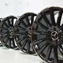 "19"" Mercedes C300 C400 C350 AMG Black Factory OEM Wheels rims"