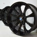 19″ BMW M5 BBS WHEELS RIMS BLACK FACTORY OEM M5 E60 19 550i 535i GLOSS BLACK