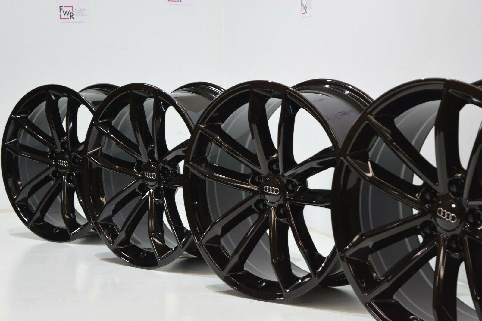 2018 Audi S5 A5 S4 A4 Factory Oem Black Optic Sportback 19 Wheels Factory Wheel Republic