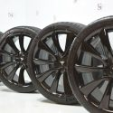 "20"" Tesla Model 3 Performance Brand new Factory OEM wheels rims tires BLACK"